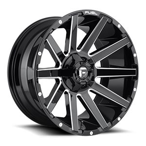Contra - D615 Gloss Black & Milled 5 lug