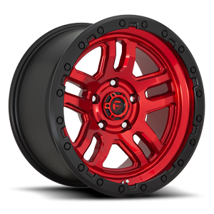 D732 AMMO Candy Red w/ Black Ring 5 lug
