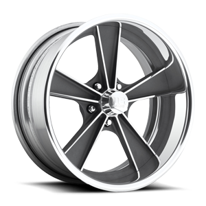 Dayton - U321 Textured Gun Metal | Polished 5 lug