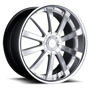 Executive Hyper Silver with Stainless Steel Lip 5 lug