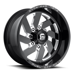 Turbo 8 - D582 Black & Milled 8 lug