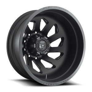FF39D - 10 Lug Rear Matte Black w/ Gloss Black Accents 10 lug