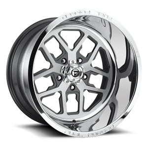 FF45 - 5 Lug Brushed Face w/ Anthracite Windows / Polished Lip 5 lug