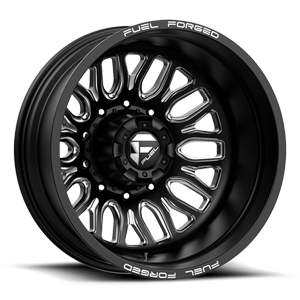 FF66D - 10 Lug Rear Matte Black Milled - 22x8.5 10 lug