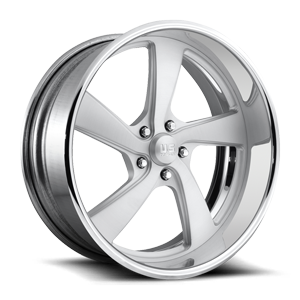 FLARE 5 - US489 Brushed Matte Clear w/ Polished Lip 5 lug