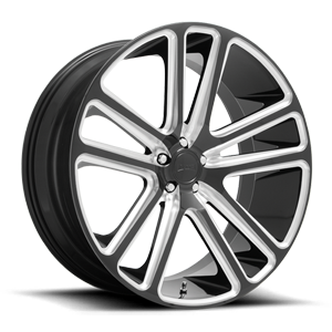 Flex - S255 Gloss Black Milled 5 lug