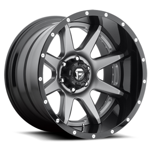 Fuel 2-Piece Wheels Rampage - D238 6 Anthracite Center and Gloss Black Lip