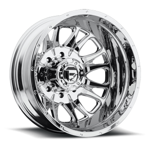 Throttle Dually Rear - D212 Chrome 8 lug