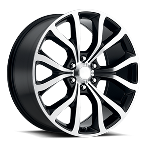 Style 52 Gloss Black Machined Face 6 lug