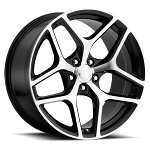 Style 27 Gloss Black Machined Face 5 lug