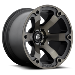 Fuel 1-Piece Wheels Beast - D564 6 Black & Machined with Dark Tint