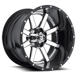 Fuel 2-Piece Wheels Maverick - D260 5 Chrome with Gloss Black Lip