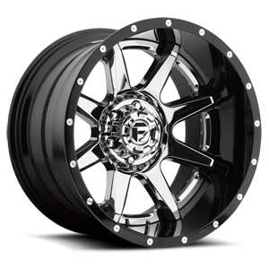 Rampage - D247 Chrome with Gloss Black Lip 8 lug