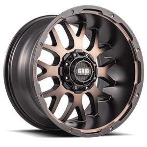 GD2 Matte Black Machined Face with Dark Tint 5 lug