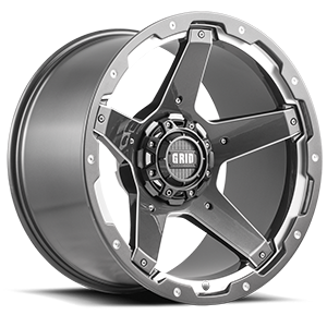 GD4 Gloss Graphite Milled 5 lug