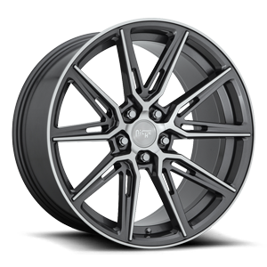 Gemello - M220 Gloss Anthracite & Machined 5 lug
