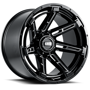 Grid GD12 6 Gloss Black Milled