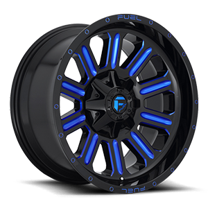 Hardline - D646 6 Gloss Black w/ Candy Blue