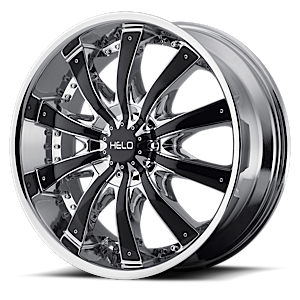 HE875 Chrome w/ Gloss Black Accents 6 lug