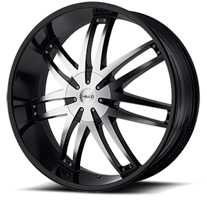 HE868 Gloss Black w/Machine 6 lug