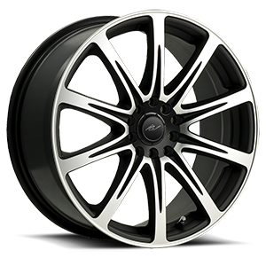 209 Euro Machined Black 5 lug