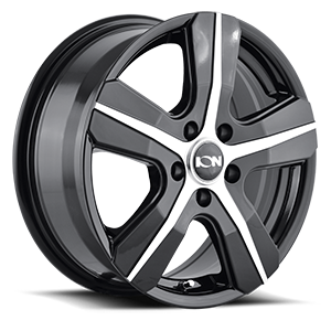 Ion Alloy Wheels 101 5 Black with Machined Face