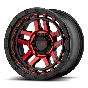 KM540 RECON 6 Gloss Black With Red Tinted Machined Face