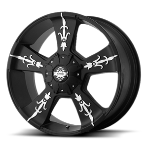 KM668 VANDAL 8 Matte Black Machined
