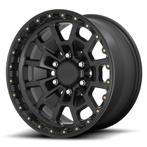 KM718 Summit Satin Black 6 lug
