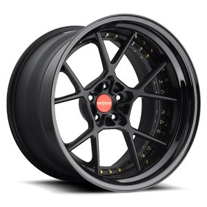 KPS Matte Black | Gloss Black Lip 5 lug