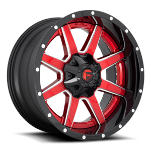 Fuel 2-Piece Wheels Maverick D250 6 Candy Red w/ Gloss Black Lip