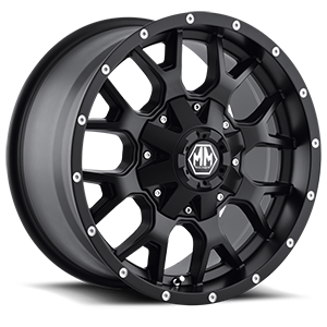 8015 Warrior Matte Black 6 lug