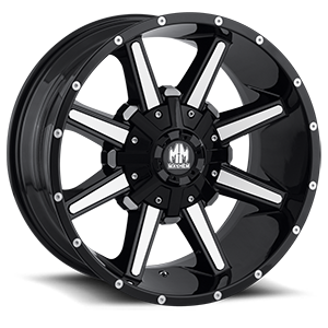 Mayhem Wheels Arsenal 6 Black with Machined Face