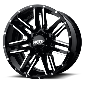 MO202 Black Machined with Black Lip 8 lug
