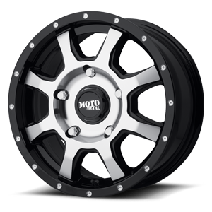 MO970 Euro Van Gloss Black w/ Machined Face 5 lug