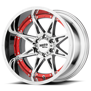 MO993 Hydra 6 Chrome with Red Inserts