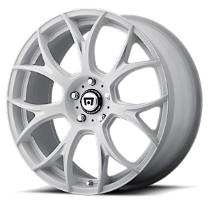 MR126 Matte White w/ Milled Accents 5 lug