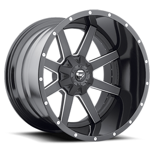 Fuel 2-Piece Wheels Maverick - D262 5 Black & Milled