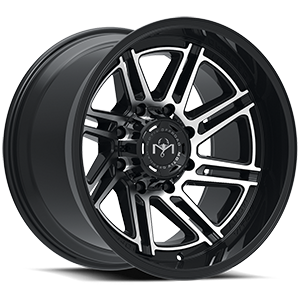 425 Millenium Machined Black 8 lug