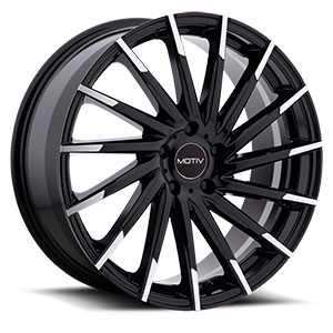 Motiv Luxury Wheels 417 Montage 5 Gloss Black with Mirror Machined Spoke Tips