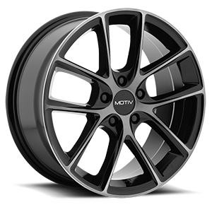 Motiv Luxury Wheels 420 Murano 5 Gloss Black with Machined Face and Dark Tint
