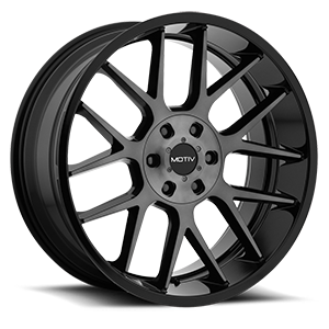 Motiv Luxury Wheels 422 Midnight 6 Gloss Black with Machined Face and Dark Tint