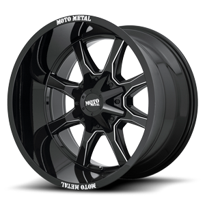 MO970 5 Gloss Black w/ Milled Spoke-Milled MM Lip
