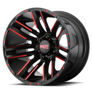 MO978 Razor 6 Satin Black Machined w/ Red Clear Coat