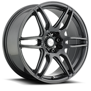 NR6 - M105 Anthracite & Milled Spoke 4 lug