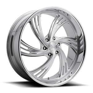 Outrage 6 - Precision Series Brushed w/ Polished Lip 6 lug