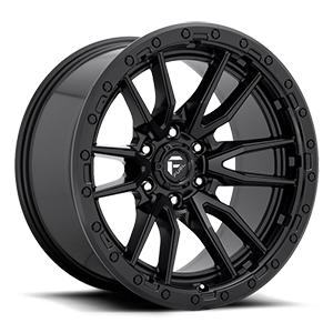 Rebel 6 - D679 Matte Black 6 lug