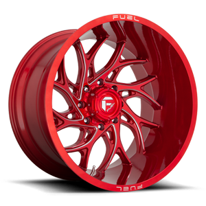 Runner - D742 Candy Red & Milled 8 lug