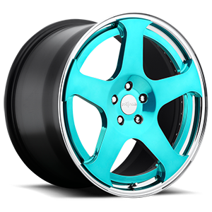 NUE Candy Blue w/Polished Lip 5 lug