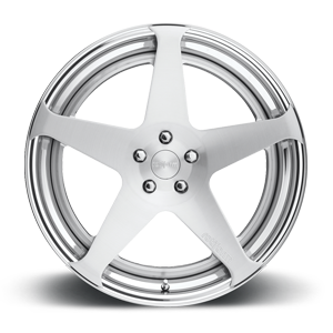 ROC Brushed w/Polished Lip 5 lug